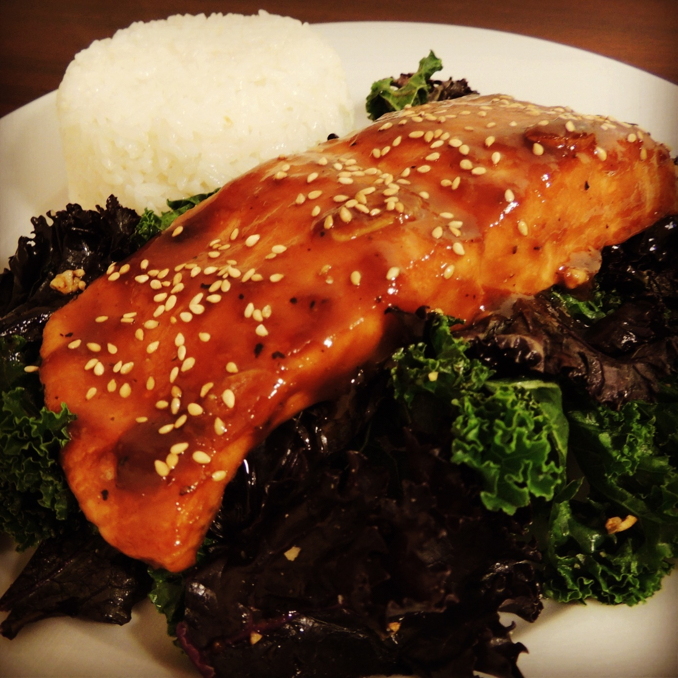 Miso Ginger Glazed Salmon